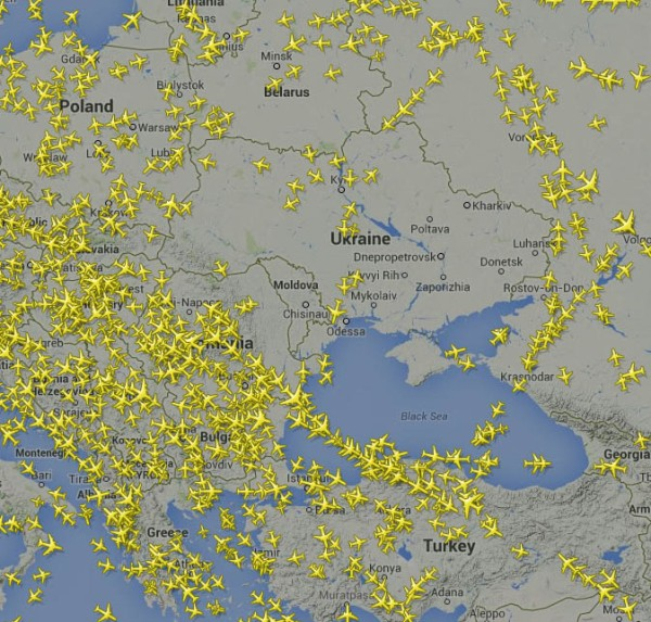 east ukraine air space